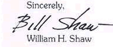Bill Shaw signature